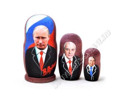 Матрешка Путин 3 места. Цена от 170 руб