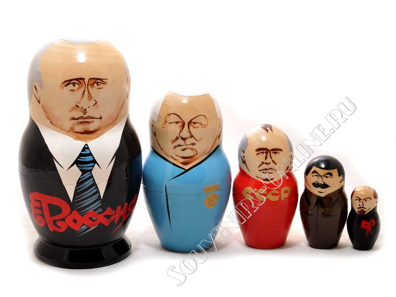 Матрешка Путин 5 мест 14см