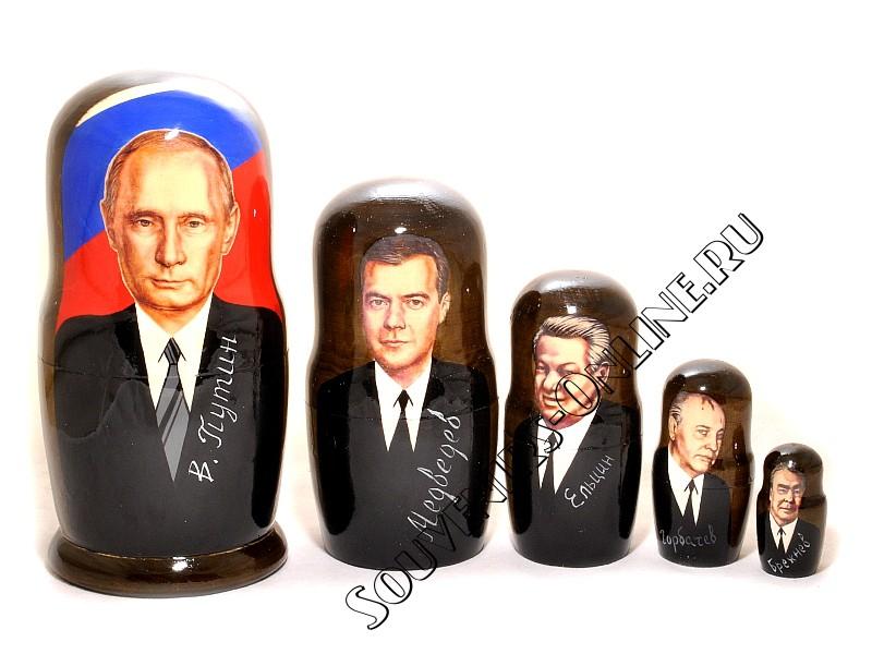 Матрешка Путин 5 мест 17 см