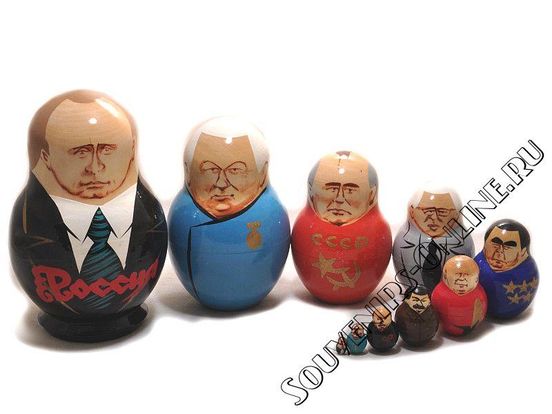 Матрешка пузатая Путин 10 мест. Купить от 1150 руб.